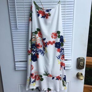 Tropical Back Lace up Dress